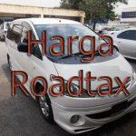 harga roadtax untuk kereta